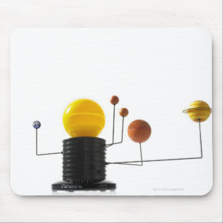 Solar system model on white background mouse pad