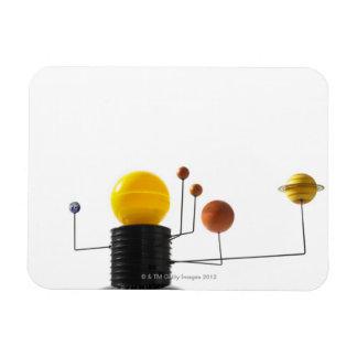 Solar system model on white background rectangular photo magnet