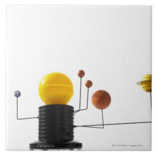 Solar system model on white background ceramic tiles
