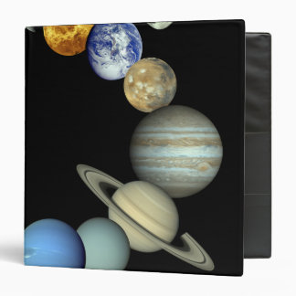 Solar System Montage 3 Ring Binder