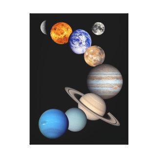 Solar System Montage Canvas Prints
