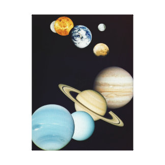 Solar System Montage Stretched Canvas Prints