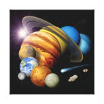 Solar System Montage Canvas Print