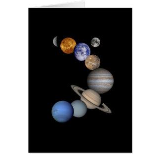 Solar System Montage Card