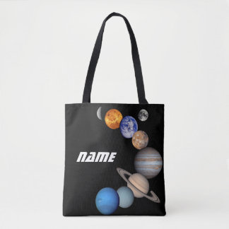 Solar System Montage JPL Photos - Customize Name Tote Bag