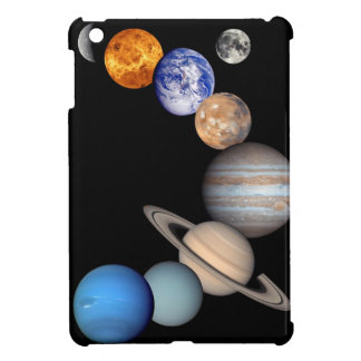 Solar System Montage JPL Planet Photos Cover For The iPad Mini