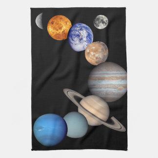 Solar System Montage JPL Planet Photos Hand Towel