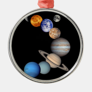 Solar System Montage JPL Planet Photos Metal Ornament