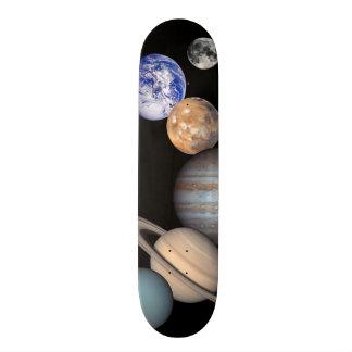 Solar System Montage JPL Planet Photos Skateboard Deck