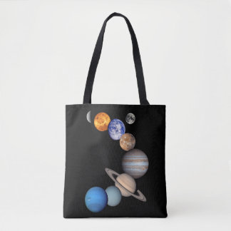 Solar System Montage JPL Planet Photos Tote Bag