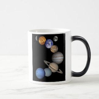 Solar System Montage Magic Mug