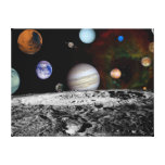 Solar System Montage of Voyager Images Canvas Prints