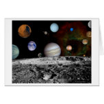 Solar System Montage of Voyager Images Greeting Card
