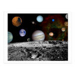 Solar System Montage of Voyager Images Postcard