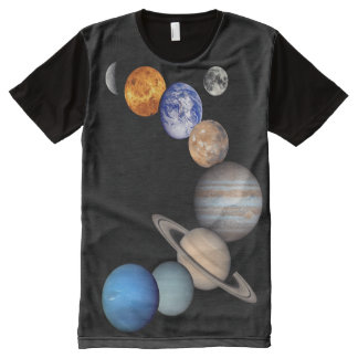 Solar System Montage Planetary Images All-Over Print T-shirt