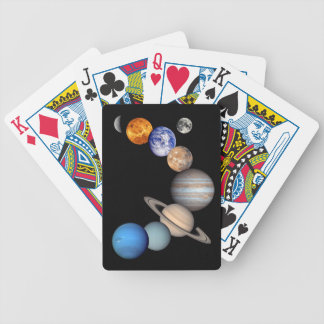 Solar System Montage Planetary Images Bicycle Playing Cards
