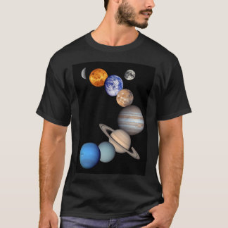 Solar System Montage Planetary Images T-Shirt