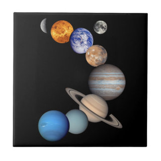 Solar System Montage Planetary Images Tile