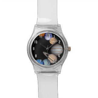 Solar System Montage Planetary Images Wristwatch