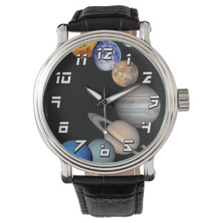 Solar System Montage Planetary Images Wristwatches