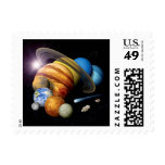 Solar System Montage Postage Stamp