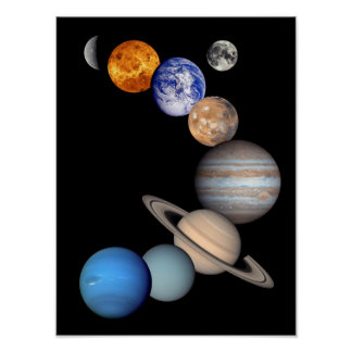 Solar System Montage Posters