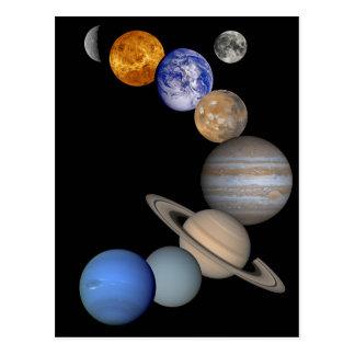 Solar system montage tarjeta postal