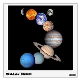 Solar System Montage Room Sticker