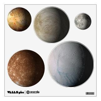 Solar System Moons Wall Sticker