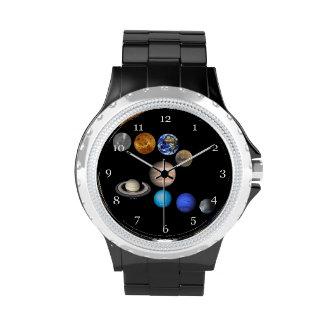 Solar system nine planets watch. wrist watch