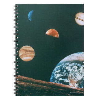 Solar system spiral note books