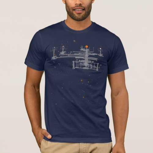 Solar System Orrery in Space T_Shirt