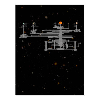 Solar System Orrery Postcard