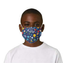 Solar System Pattern with Planets Fun Kids' Cloth Face Mask