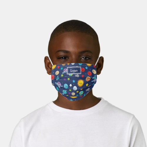 Solar System Pattern with Planets Fun Kids Cloth Face Mask