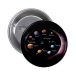 Solar System Planets Button 2 Inch Round Button