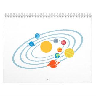 Solar system planets calendar
