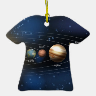 Solar system planets diagram ceramic T-Shirt decoration