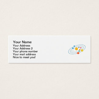 Solar system planets mini business card