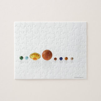 Solar system planets on white background 2 jigsaw puzzle