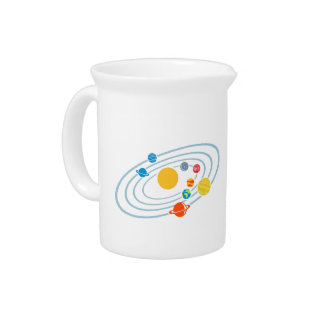 Solar system planets drink pitchers