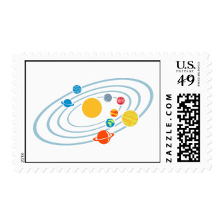 Solar system planets postage