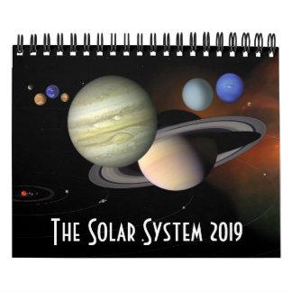 Solar System Planets Space Astronomy 2019 Calendar