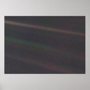 Solar System Portrait - Earth as 'Pale Blue Dot' Poster