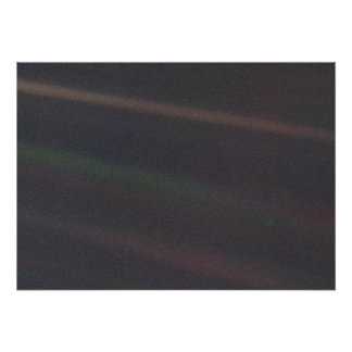 Solar System Portrait - Earth as 'Pale Blue Dot' Poster
