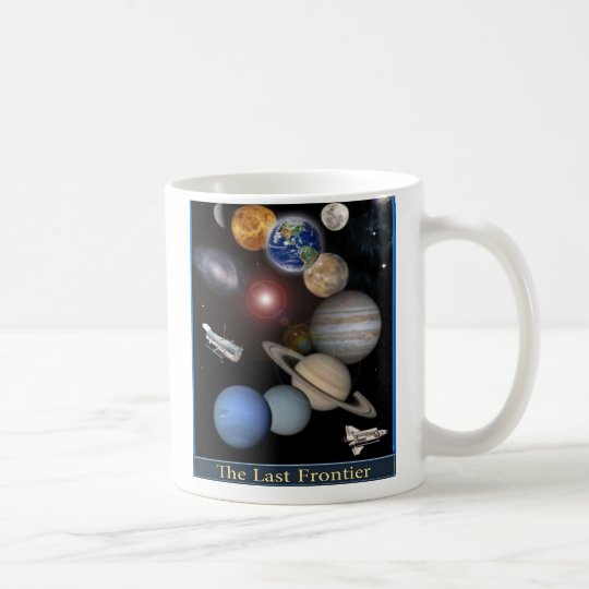 Solar System space mug