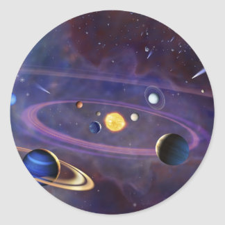 Solar System Round Sticker