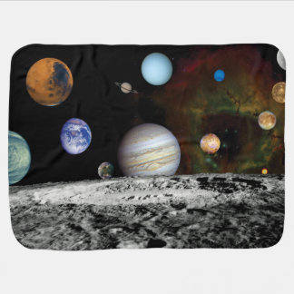 Solar System Voyager Images Montage Baby Blanket