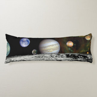 Solar System Voyager Images Montage Body Pillow
