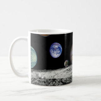 Solar System Voyager Images Montage Coffee Mug